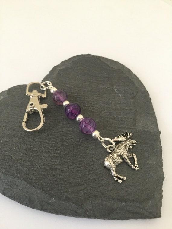Orignal bijou de sac / porte clé orignal / animal bijou de sac bag charms / cadeau orignal / animal cadeau d'amant