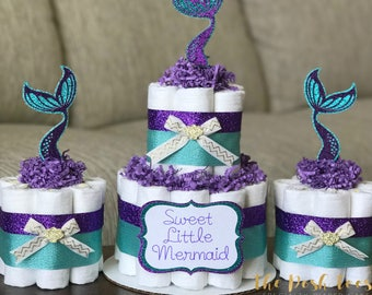 Mermaid Diaper Cake Etsy