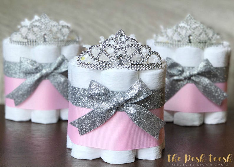b67293a23 Princess Baby Shower Diaper Cake Little Princess Pink and