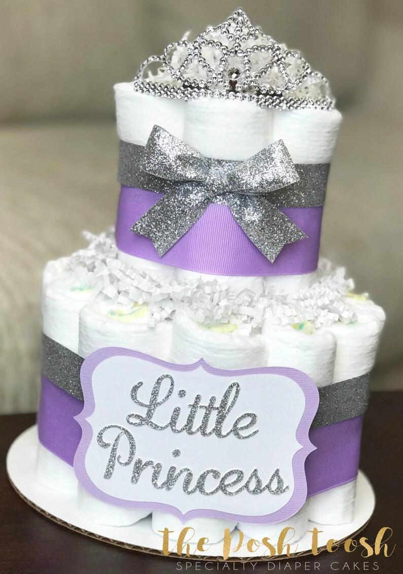 Princess Diaper Cake Baby Shower Centerpiece Decor Baby Etsy