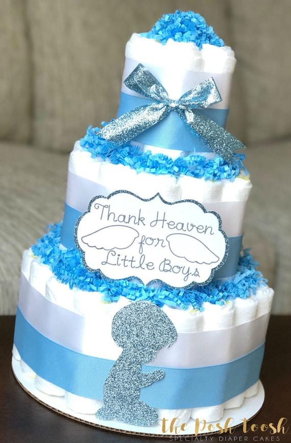 Items Similar To Thank Heaven For Little Boys Diaper Cake