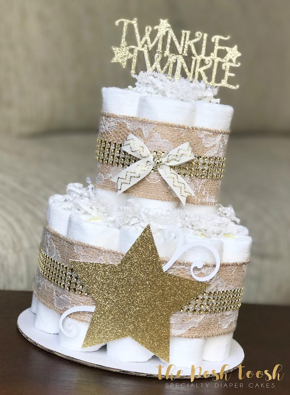 Twinkle Twinkle Little Star Diaper Cake Baby Shower Etsy