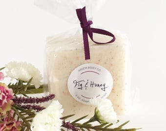 Fig and Honey Soap - Luxurious Handmade Soap, Shea Butter - Best Selling Bar Soap, Unique Soap Gift for Her, Stocking Stuffer, Natural Soap