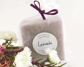 Lavande Lavender Soap -  Luxurious Handmade Soap, Shea Butter, Bentonite Clay - Lavender Soap Gift, Stocking Stuffer, French Gift for Her