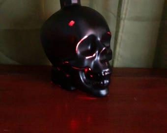 Black Skull lighted bottle