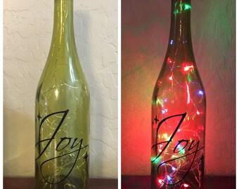Bouteille de vin de la joie