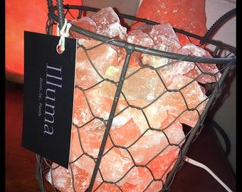 Country Style Pink Himalayan Salt Lamp