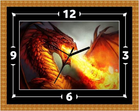 Dracheneinhorn Mythos Fantasy Uhr Geschenk Geschenk Weihnachten Geburtstag Kann Personalisiert Werden