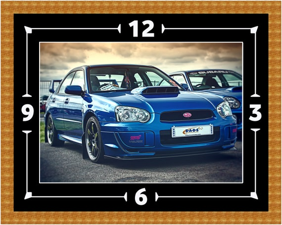 Subaru Impreza Wrx Sti Wall Clock Gift Present Christmas Etsy