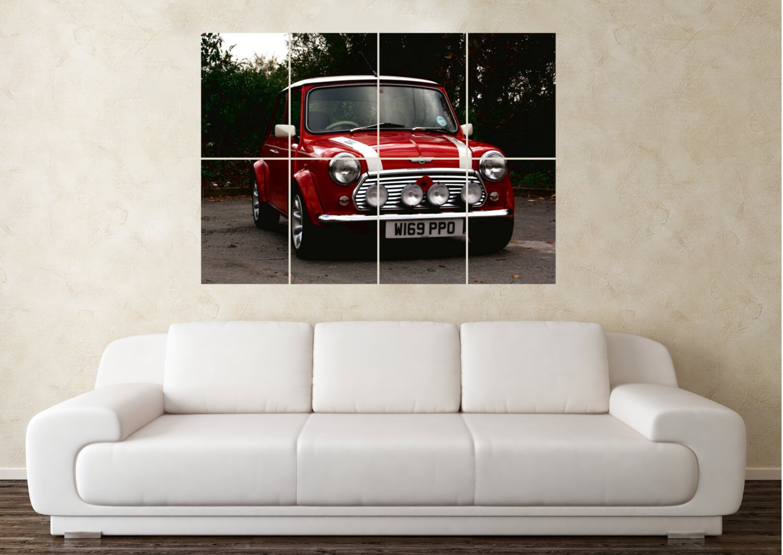 Large Austin Rover MIni John Cooper Modified Car Wall