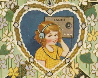 Early Radio Broadcast Valentine
