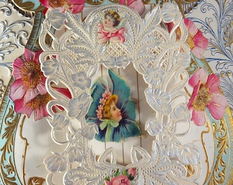 Lage Heart Shaped Silver and Gold trim Rocco Inspired Valentine Card