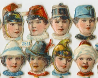 Amazing Assortment of 72 Antique Tiny Heads
