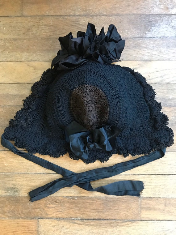 Victorian Mourning Bonnet