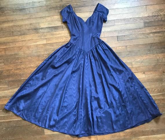 80s does 40s Grape Taffeta Dress