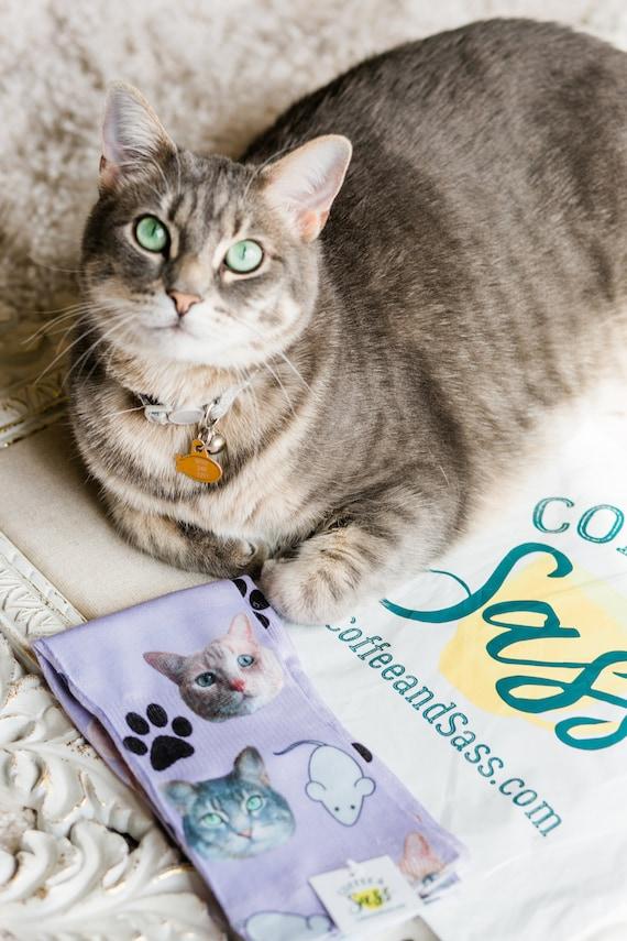Benutzerdefinierte Katze Socken Katze Papa Socken Katze | Etsy