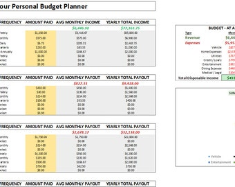 personal budget planning tool with daily expense tracker etsy