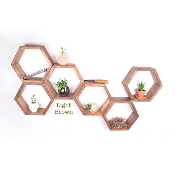 Hexagon Wood Wall Planter