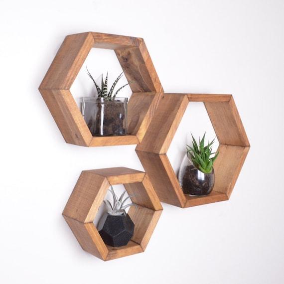 3 Hexagon Shelves Honeycomb Shelves Geodesic Shelves Etsy