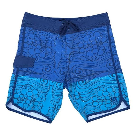 0600bbd25a Mens Swim Trunks Original Prints 4 Way Stretch Breathable   Etsy