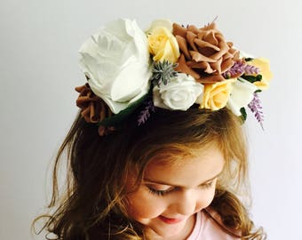 Beautiful rose floral headband | brides | bridesmaids | henparties