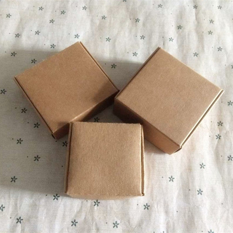 Kraft Cardboard Box Jewellery Large Necklace Pendant Choker Chain Gift Boxes