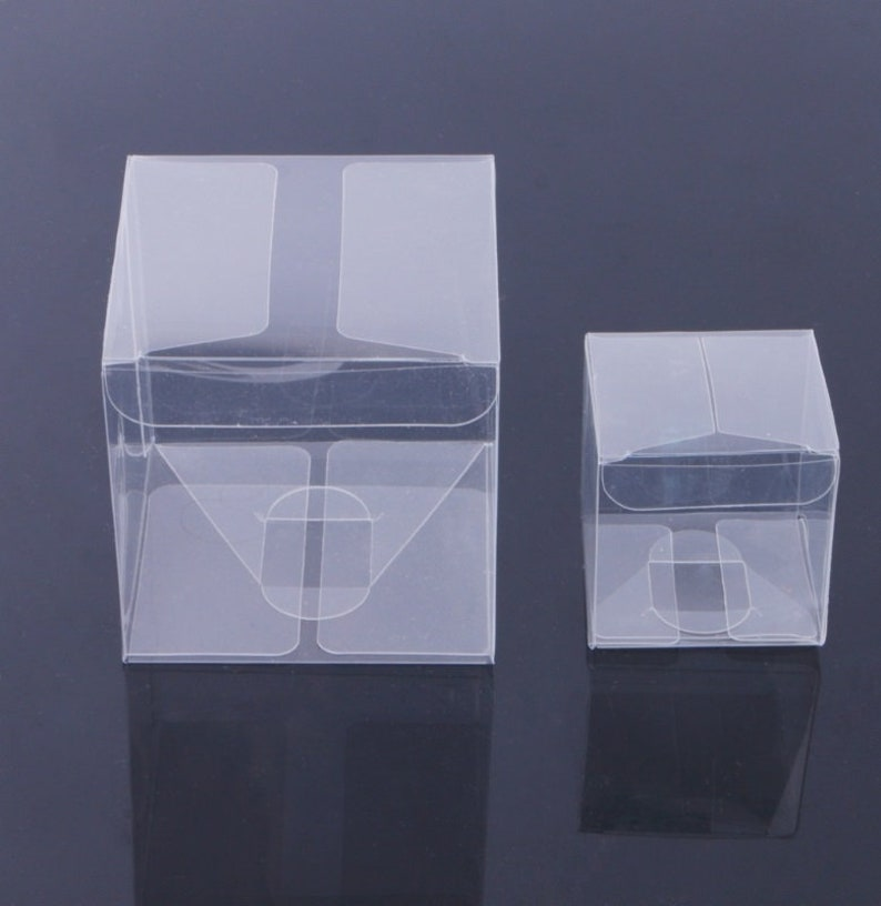 40pcs 5 5 5cm 8 8 8cm Wedding Transparent Cube Favour Boxes Sweet Candy Cake Gift Bags