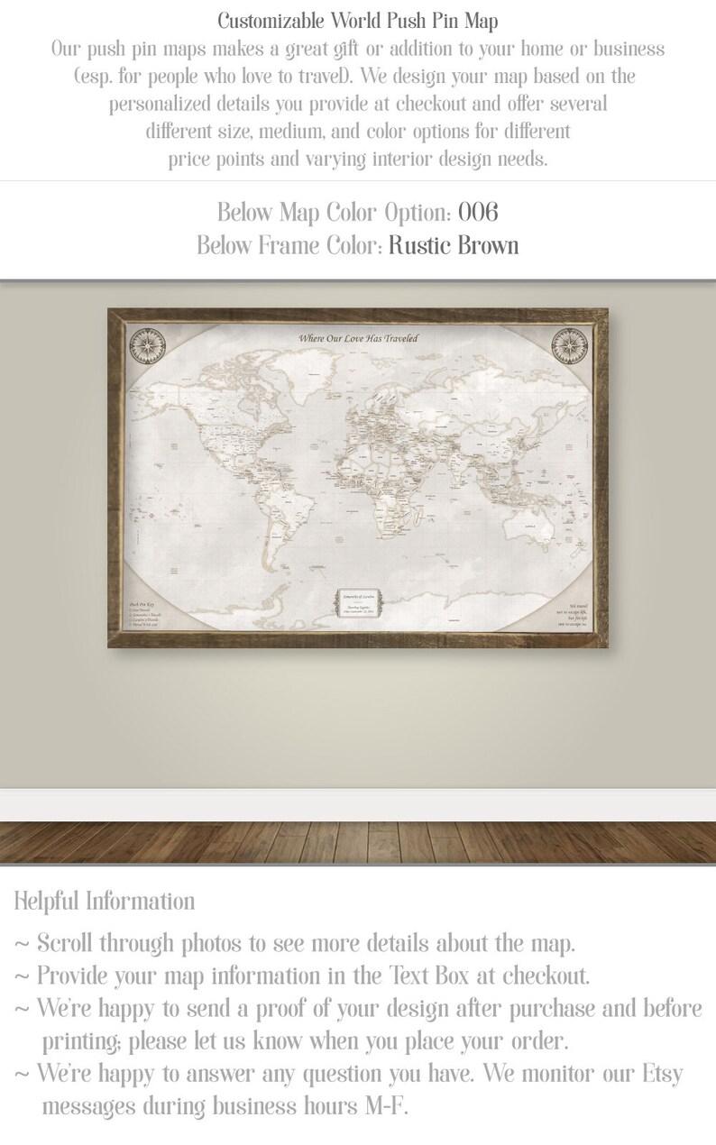 076762483f2 World Map Push Pin Board Personalize Travel Gift for Women Men