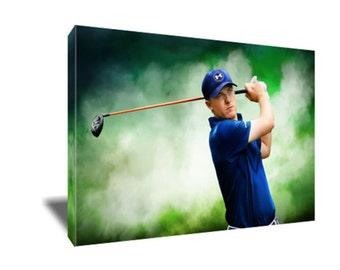 d000bafcd89c58 FREE SHIPPING Golf Stud Jordan Spieth Canvas Art