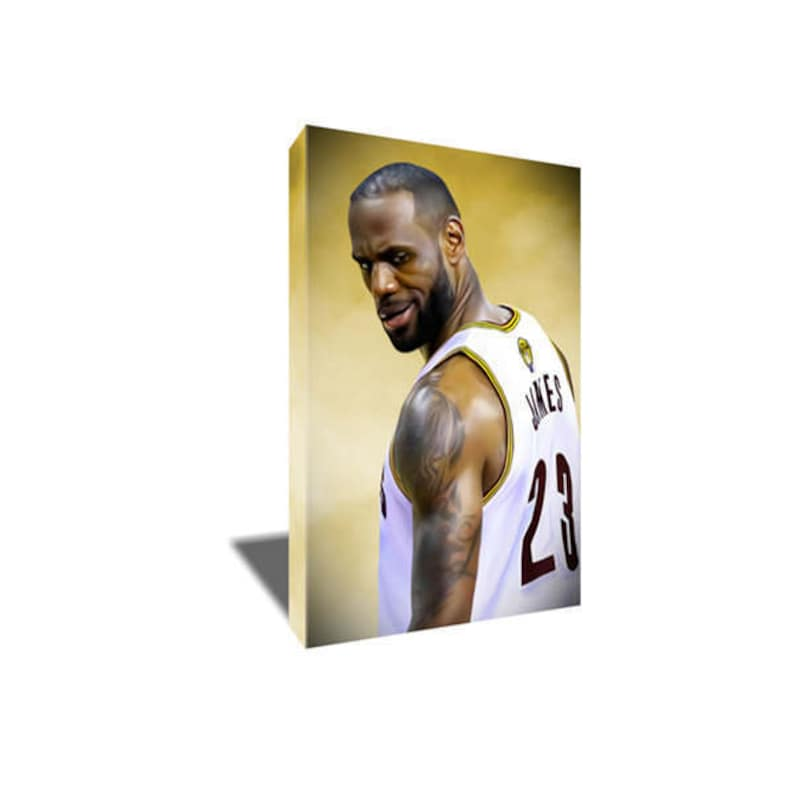 LEBRON JAMES Chalk Dust Canvas Poster Photo Painting Artwork on Canvas Wall Art
