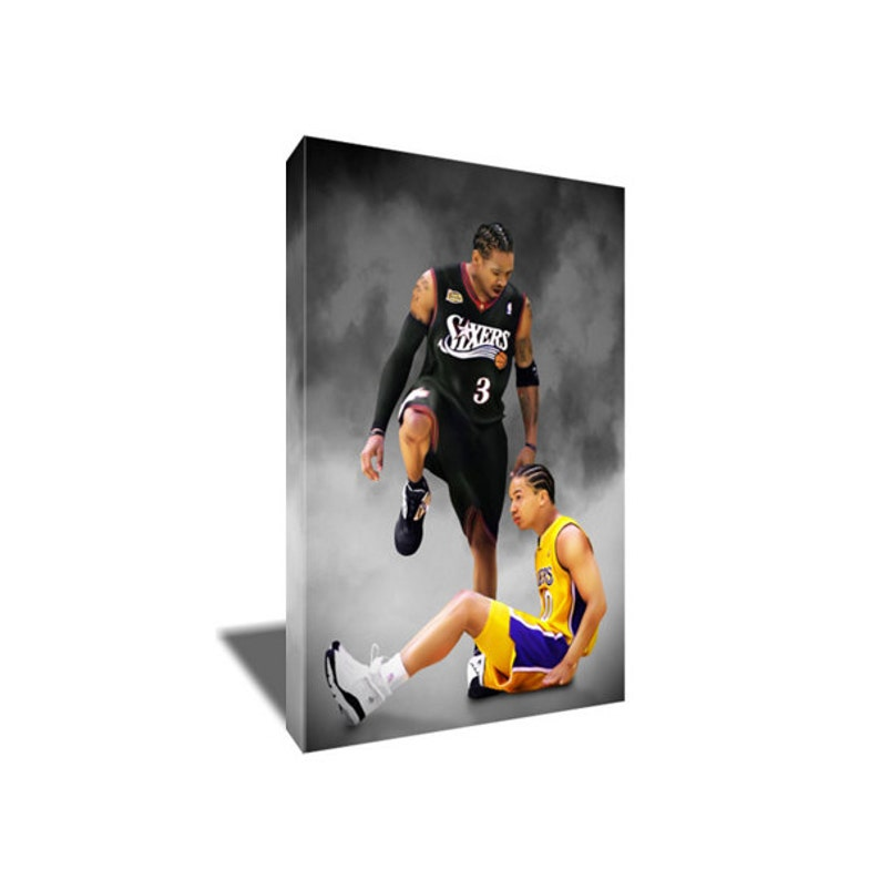 aa514953e FREE SHIPPING Allen Iverson Step Over Lue Canvas Art