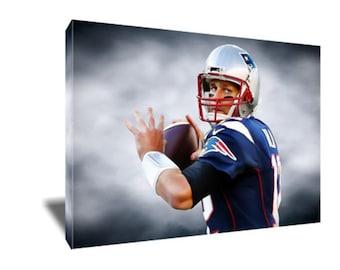FREE SHIPPING The GOAT Mvp Tom Brady Canvas Art
