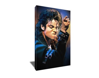 FREE SHIPPING King of Pop Michael Jackson Portrait Canvas Art