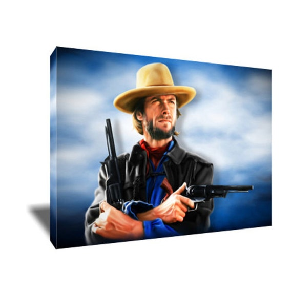 FREE SHIPPING Clint Eastwood Josey Wales Canvas Art