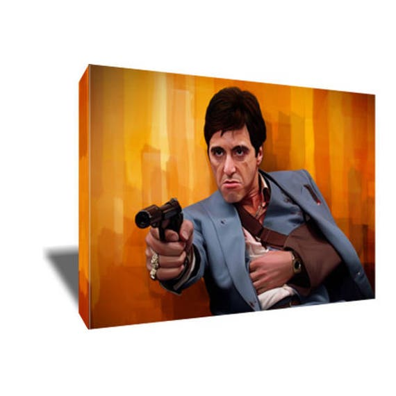Free Shipping Scarface Every Dog Has Its Day Canvas Art Etsy