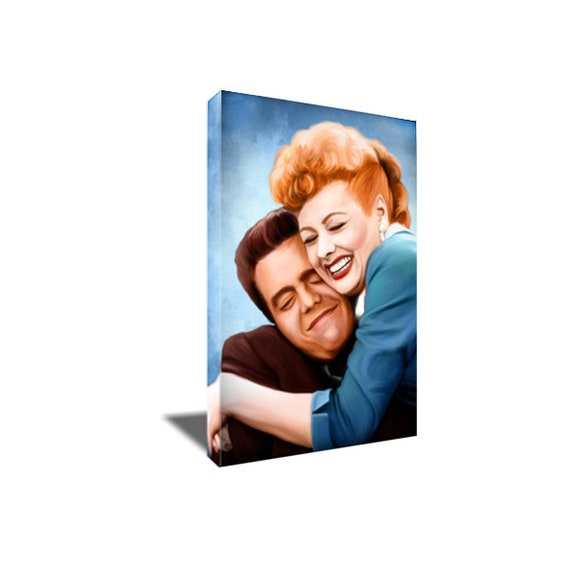 I LOVE LUCY Lucille Ball NOSE on FIRE Poster Photo Painting on CANVAS Wall Art