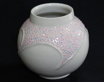 Pink and Blue Dot Design Pot