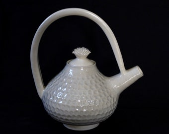 Unique Teapot with Spiked Lid