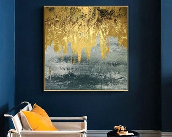 WAS06 Gloden Years Abstract Oil Painting HD Print on Canvas