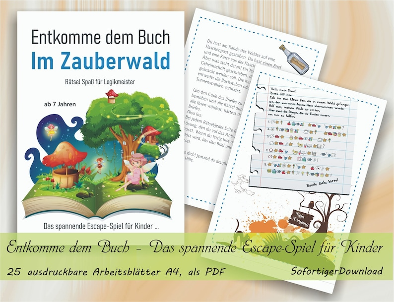Entkomme dem Buch  Im Zauberwald  Das spannende Escape-Spiel image 0