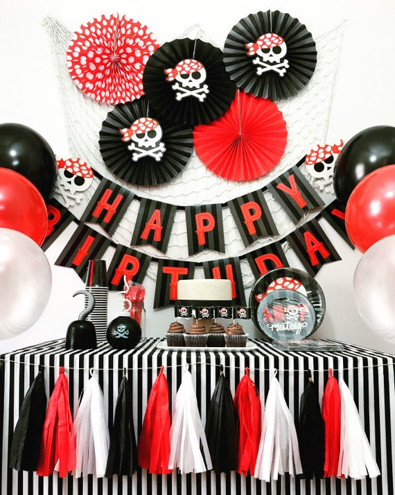 Pirate Party Theme Pirate Birthday Party Decorations Pirate Etsy