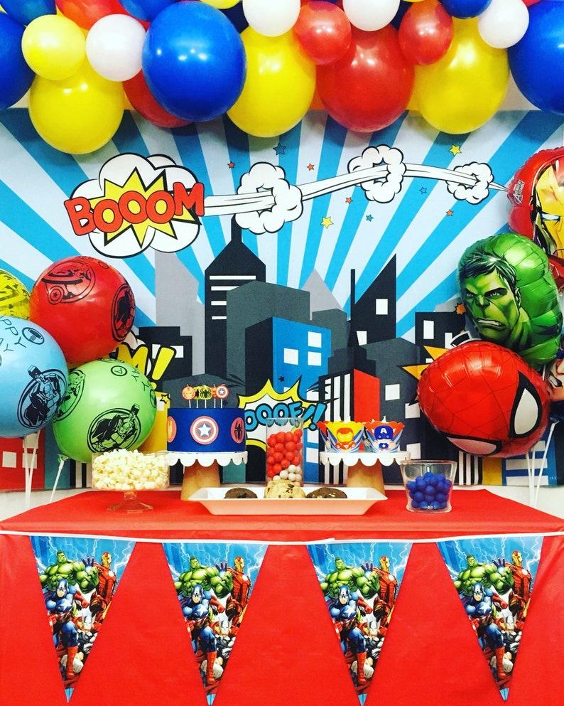 Superhero Avengers Theme Party Birthday Decorations Ironman Etsy Jpg 794x993 Iron Man