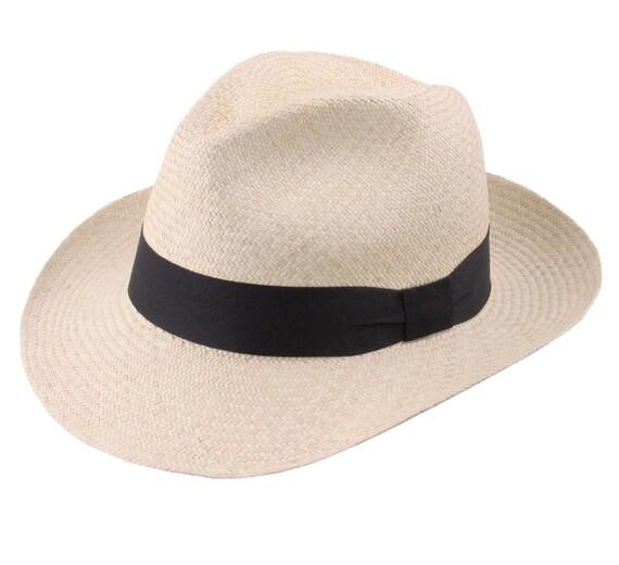 4136d34bdad41 Genuine Panama Havana Fedora Hat Handmade in Ecuador