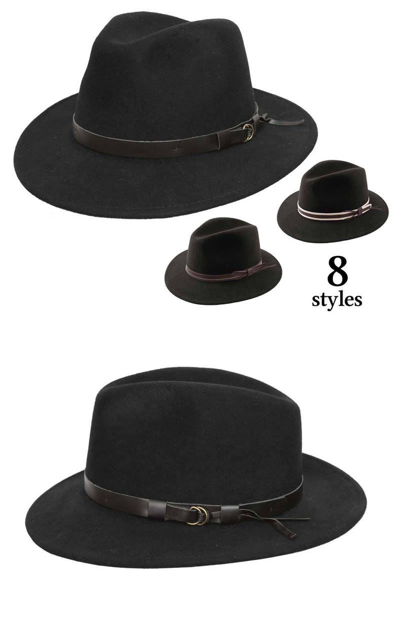 4613005cf Felt Fedora Hat - Italy / Finishes in France - Crushable and Waterproof -  Black - Women's or Men's hat