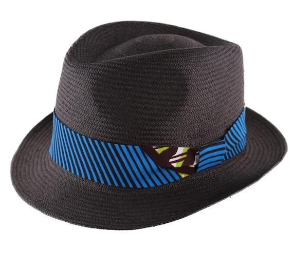 2acea198b26ed L Austral Genuine Panama trilby Hat Black Blue Green