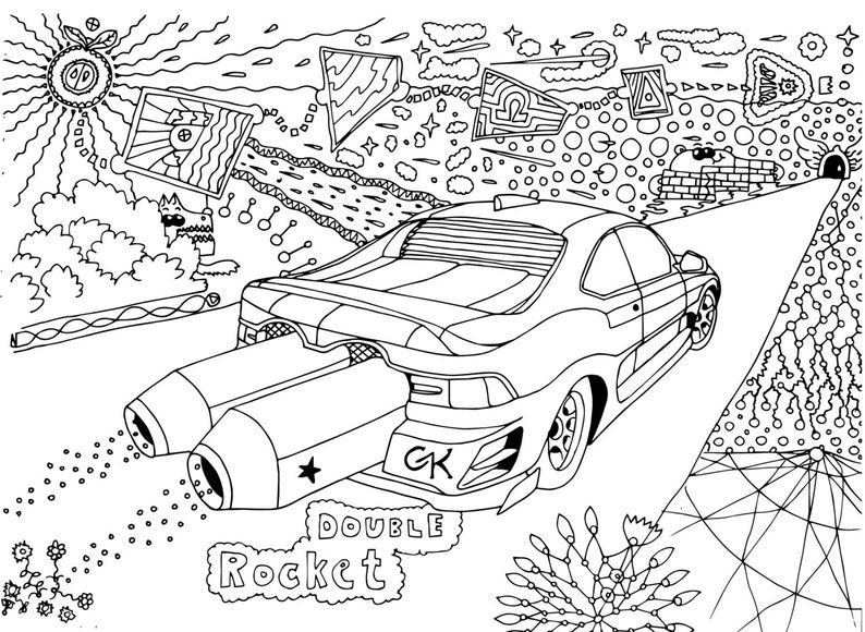 SALE 55% 11pcs Coloring Pages Racing Cars Instant Download ...