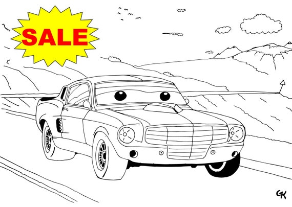 sale 55% 18pcs coloring pages muscle cars instant download | etsy