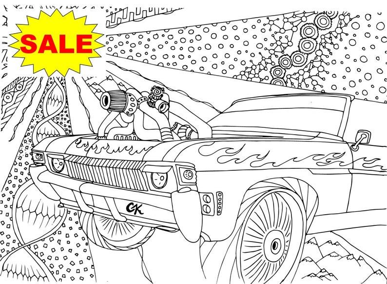Sprzedaż 55 26pcs Kolorowanki Super ładowarka Samochody Etsy