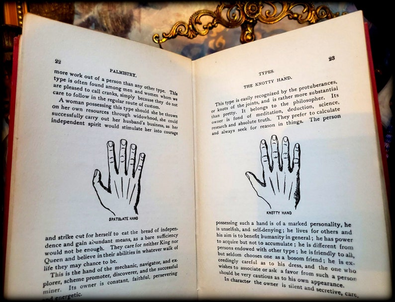 SCARCE 1919 PALMISTRY BOOK Occult Witchcraft Tarot Card Lovers