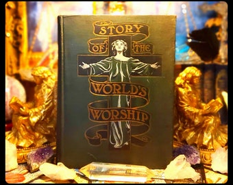 1900' THE WORLD'S WORSHIP Witchcraft Occult knowledge 780 Pages 1st edition